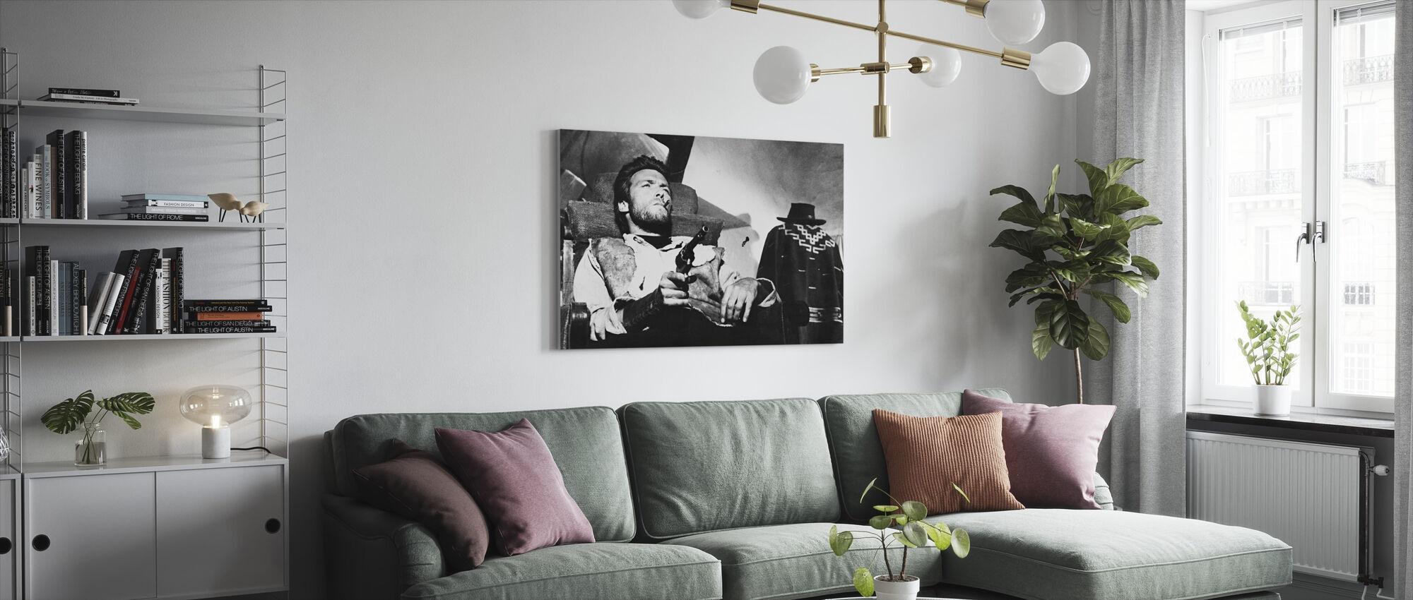 Muutaman dollarin lisää - Clint Eastwood - Canvastaulu - Olohuone
