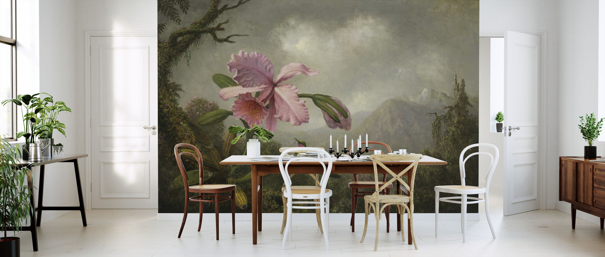 Orchid and Hummingbird - Martin Johnson Heade - Wallpaper - Kitchen
