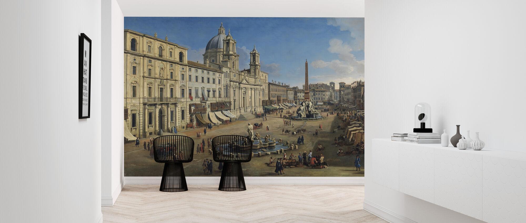 Piazza Navona - Gaspar Van Wittel - Wallpaper - Hallway
