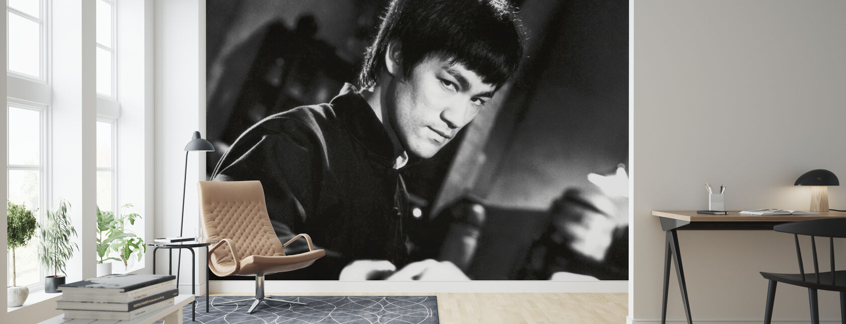 Fighting Stance - Bruce Lee - Wallpaper - Living Room