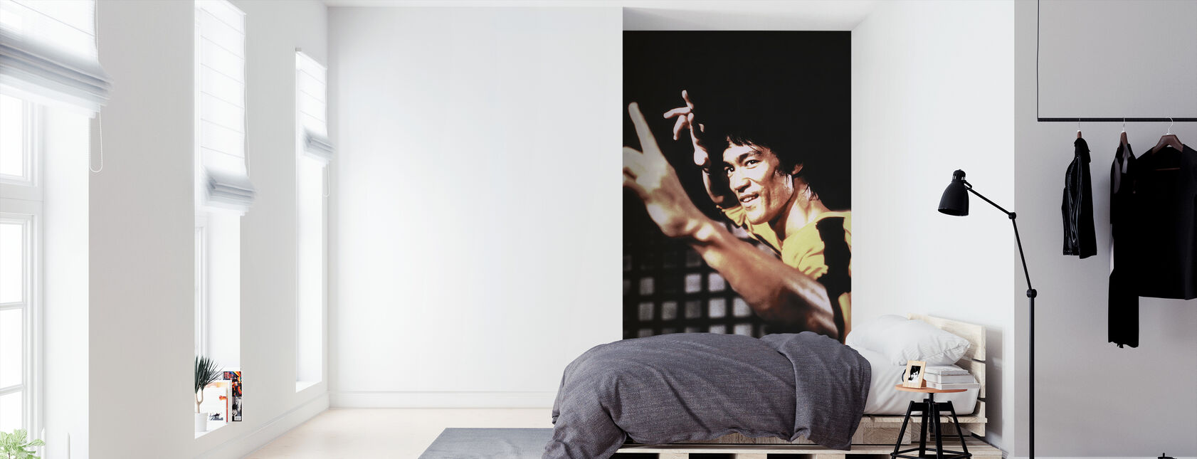 Warriors reis - Bruce Lee - Behang - Slaapkamer