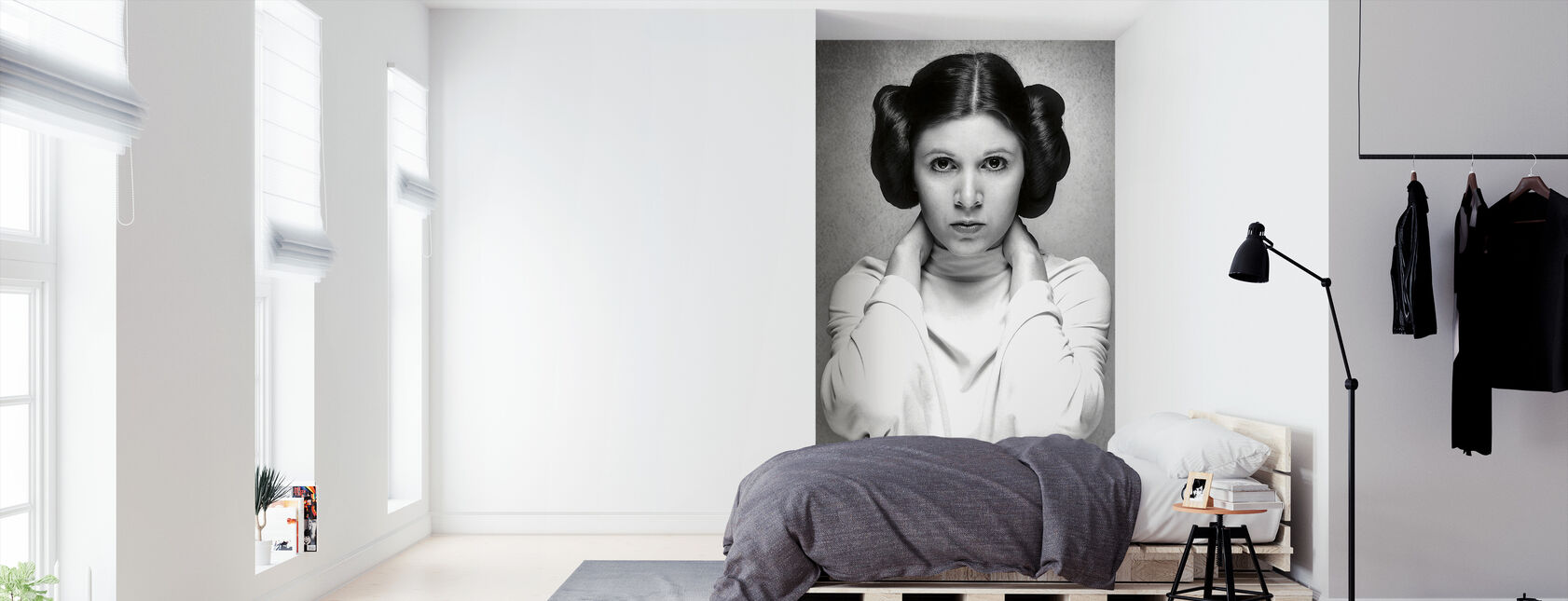 Prinses Leia - Carrie Fisher - Behang - Slaapkamer