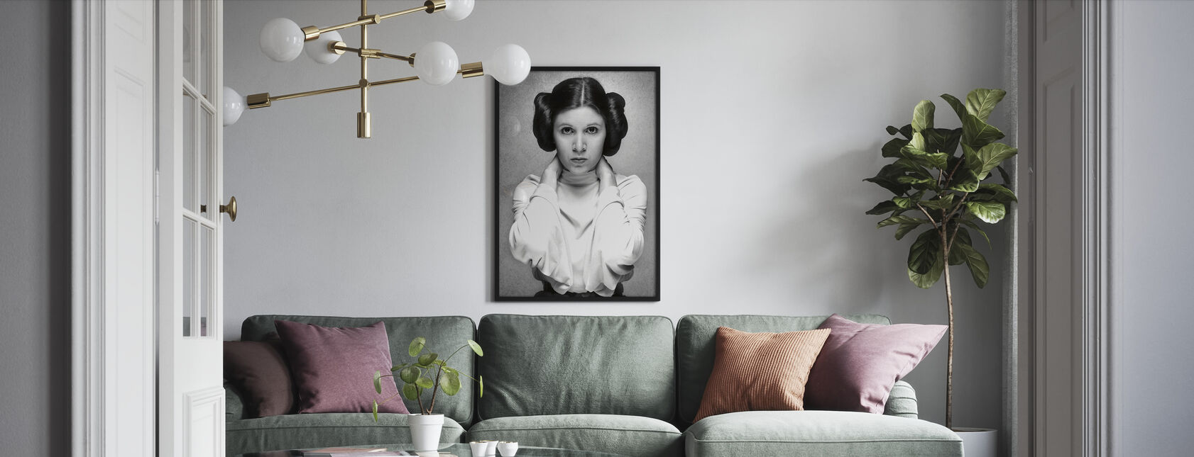 Princess Leia - Carrie Fisher - Framed print - Living Room