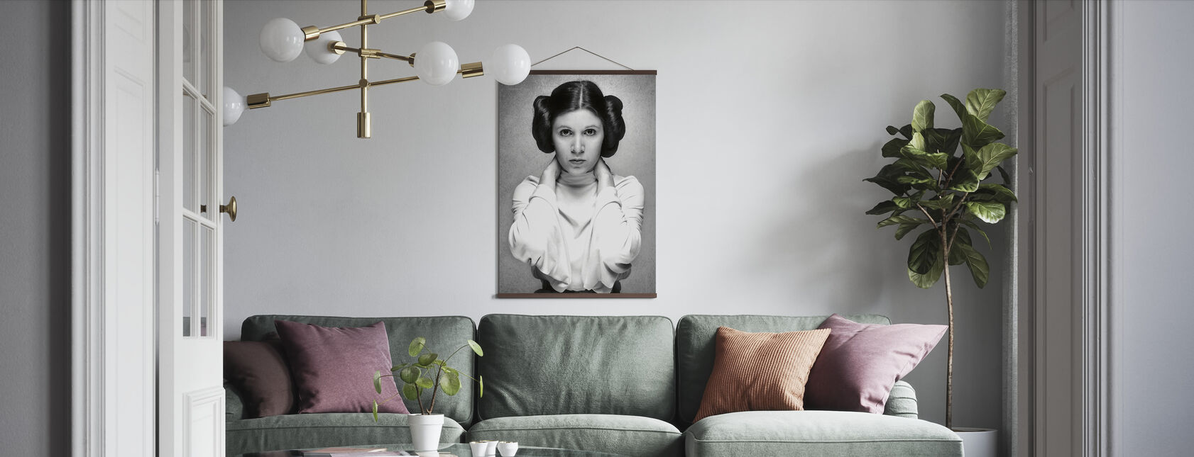 Princess Leia - Carrie Fisher - Poster - Living Room