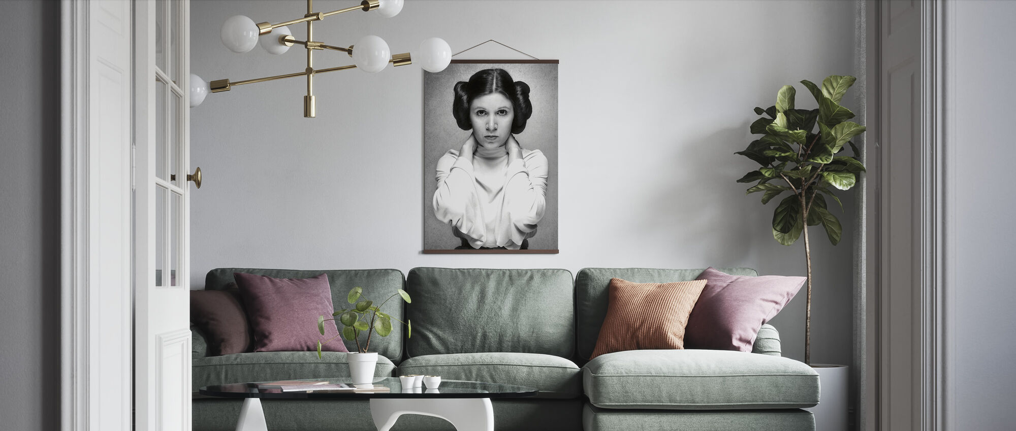 Prinzessin Leia - Carrie Fisher - Poster - Wohnzimmer