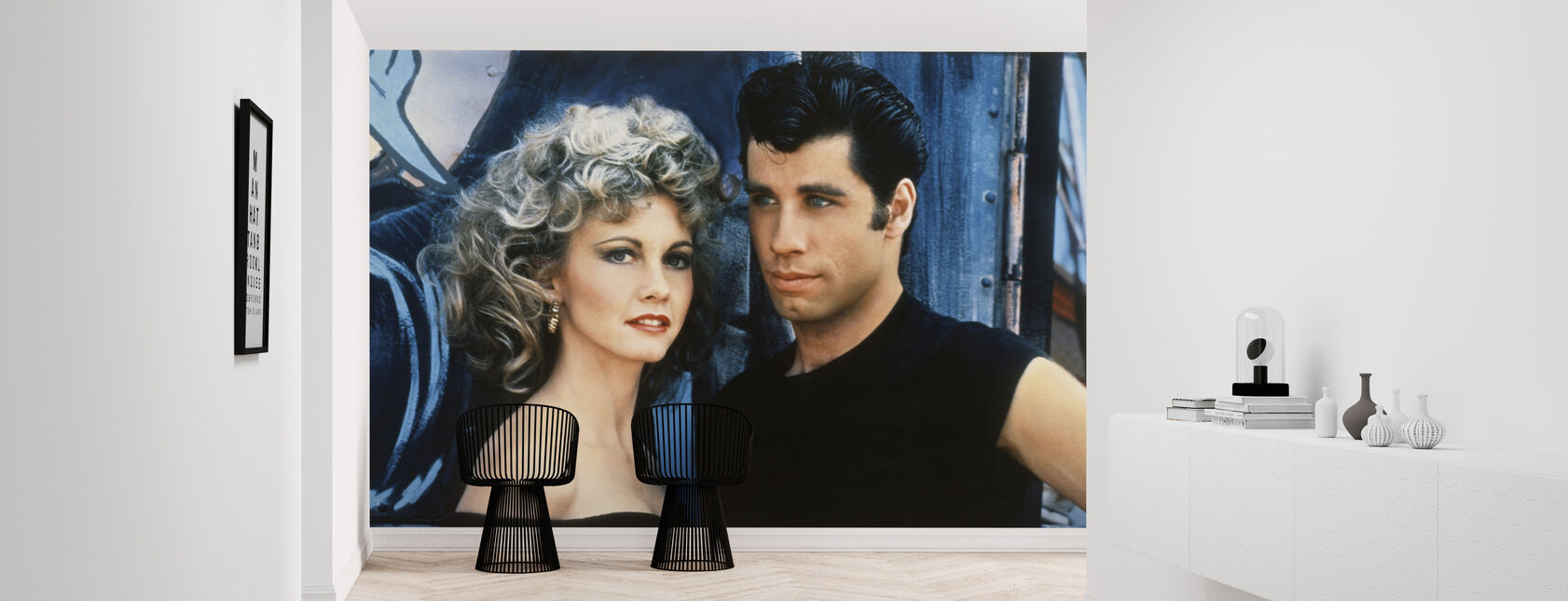 Sandy and Danny - John Travolta and Olivia Newton John - Wallpaper - Hallway