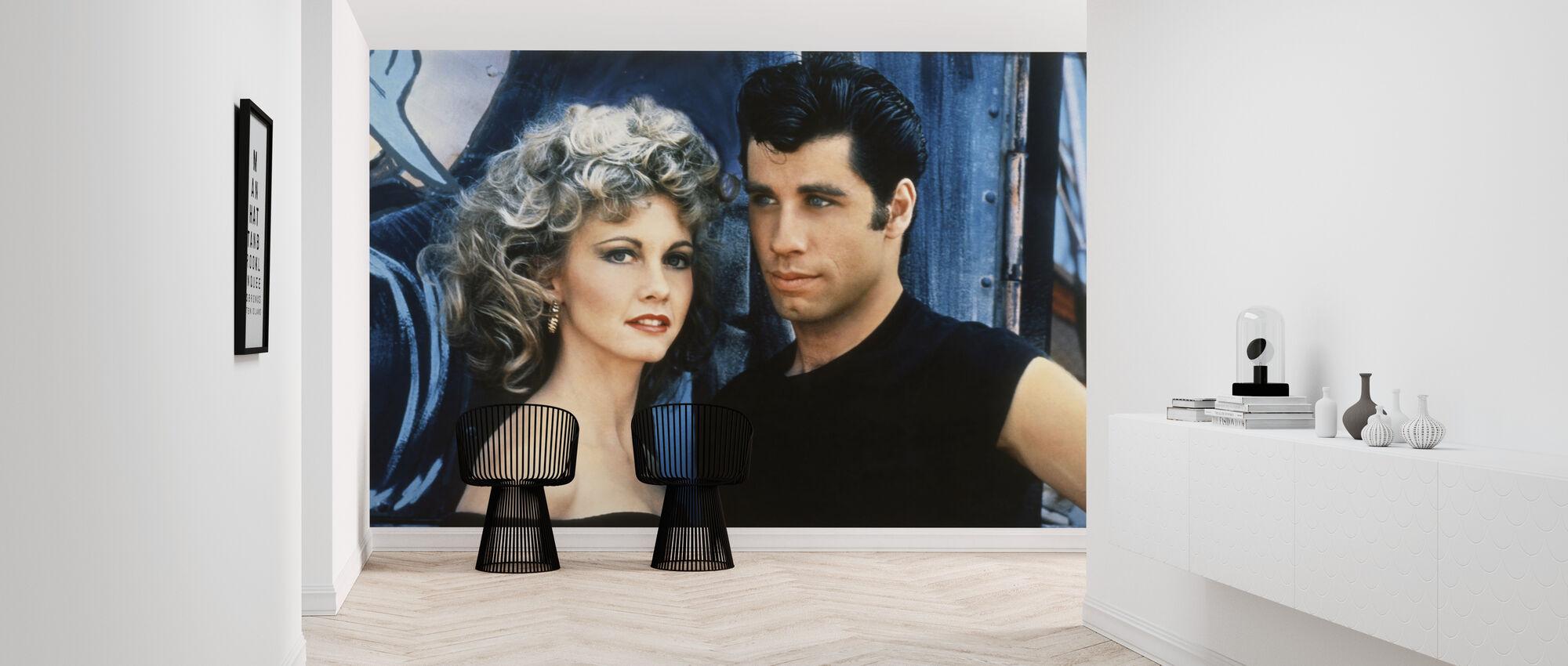 Sandy og Danny - John Travolta og Olivia Newton John - Tapet - Entré