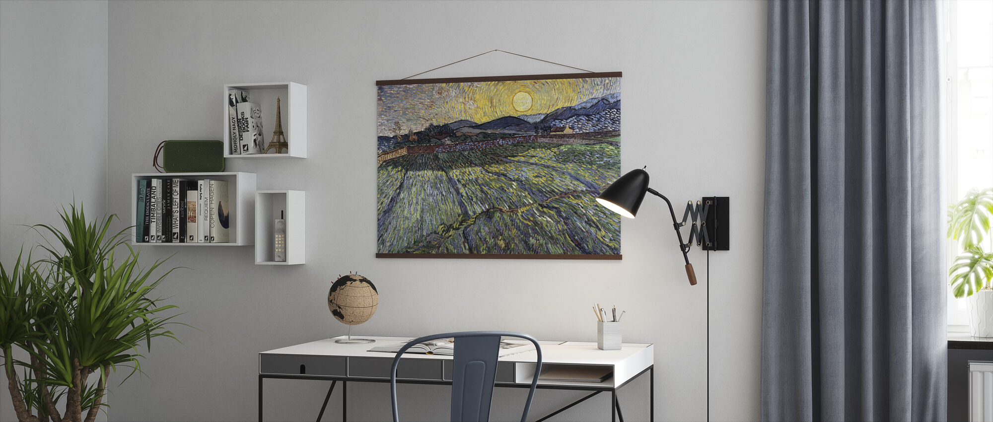 Enclosed Field with Rising Sun - Vincent van Gogh - Poster - Office