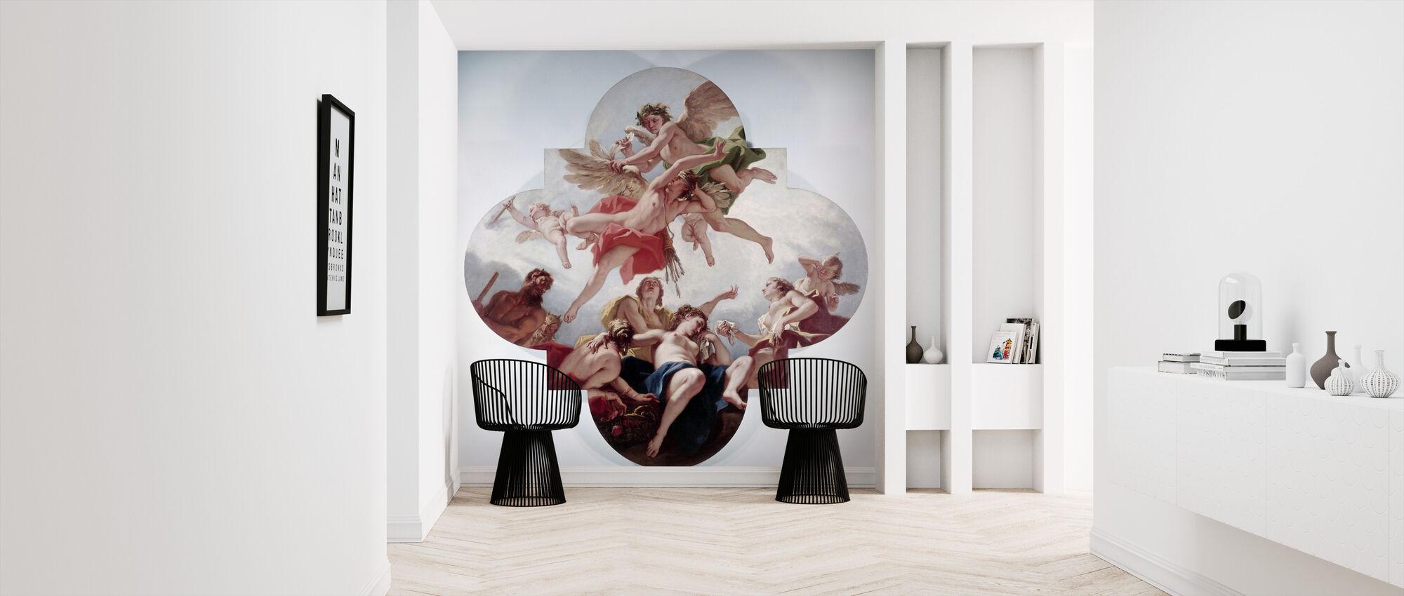 Taming Of Cupid - Sebastiano Ricci - Wallpaper - Hallway