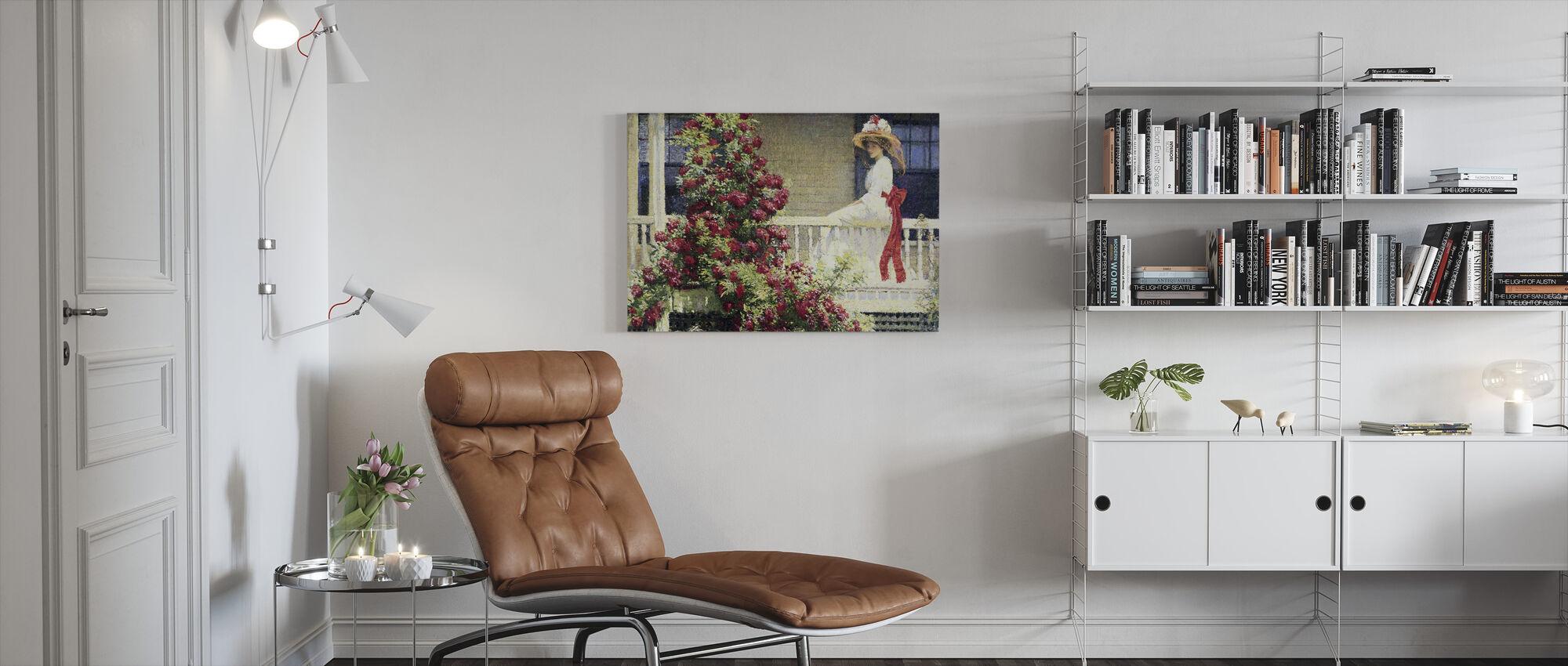 Crimson Rambler- Philip Leslie Hale - Canvas print - Living Room
