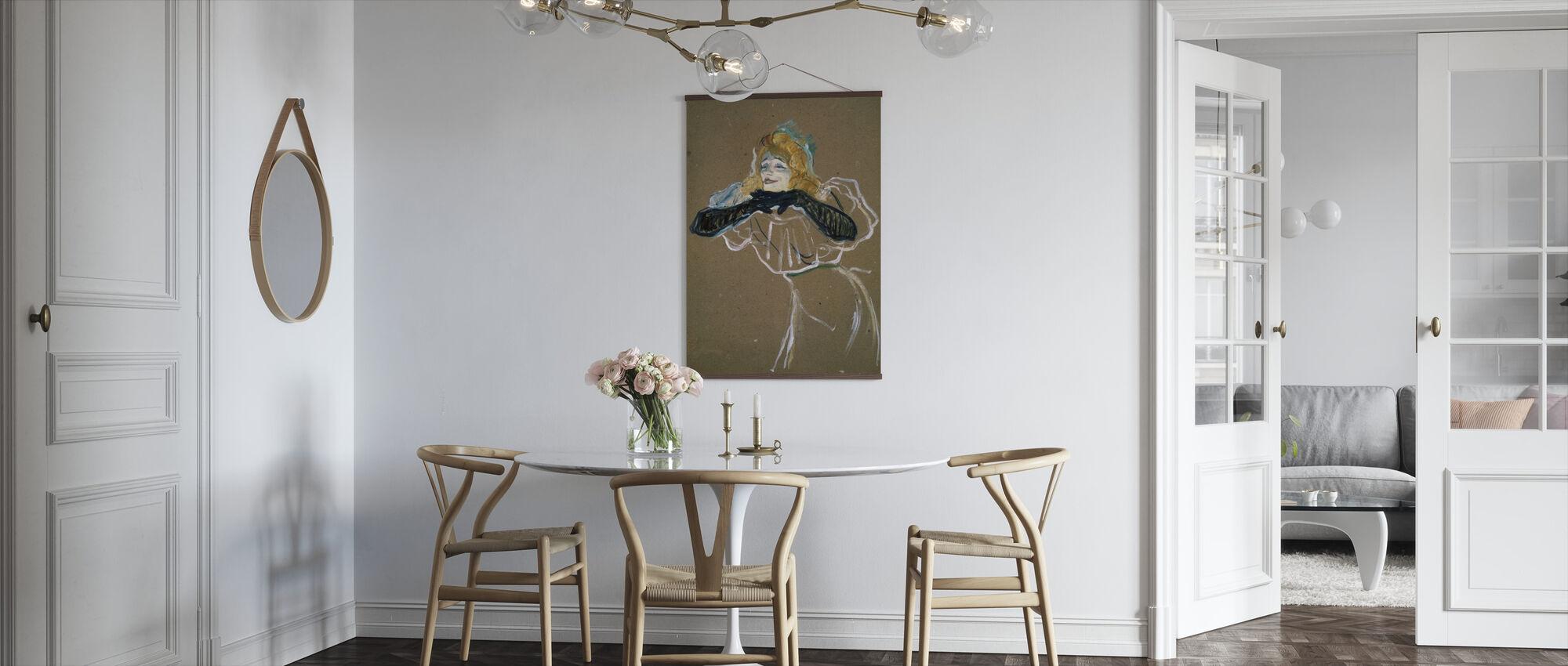 Sangeren Yvette Guilbert - Henri de Toulouse-Lautrec - Plakat - Kjøkken