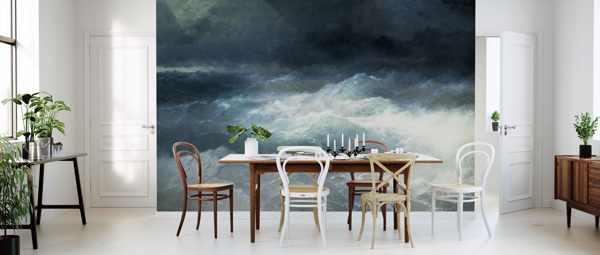 Mellom bølgene - Ivan Aivazovsky - Tapet - Kjøkken