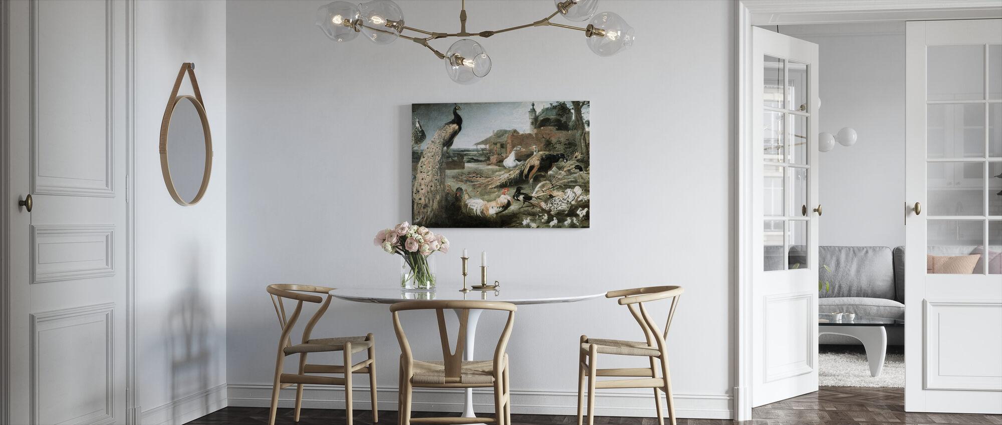 Varis riikinkukon höyhenet - Frans Snyders - Canvastaulu - Keittiö