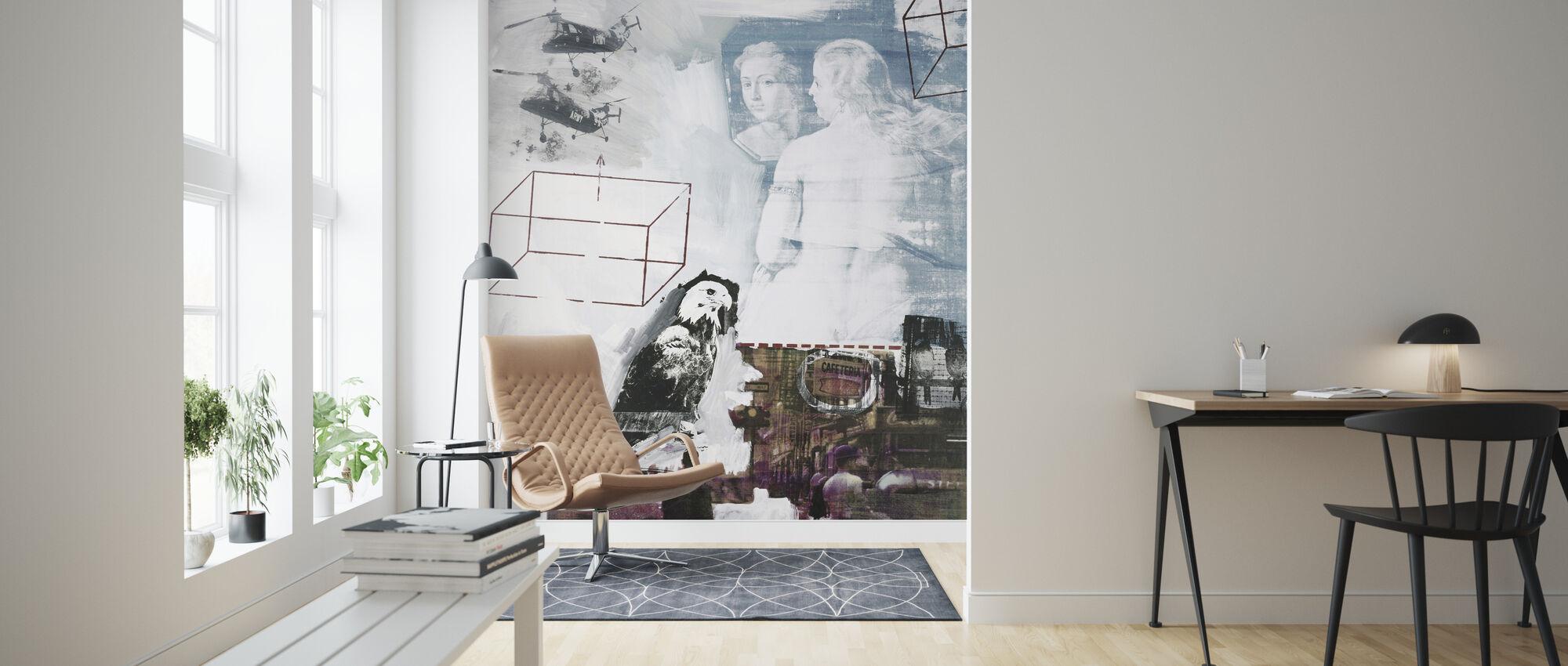 Tracer - Robert Rauschenberg - Wallpaper - Living Room