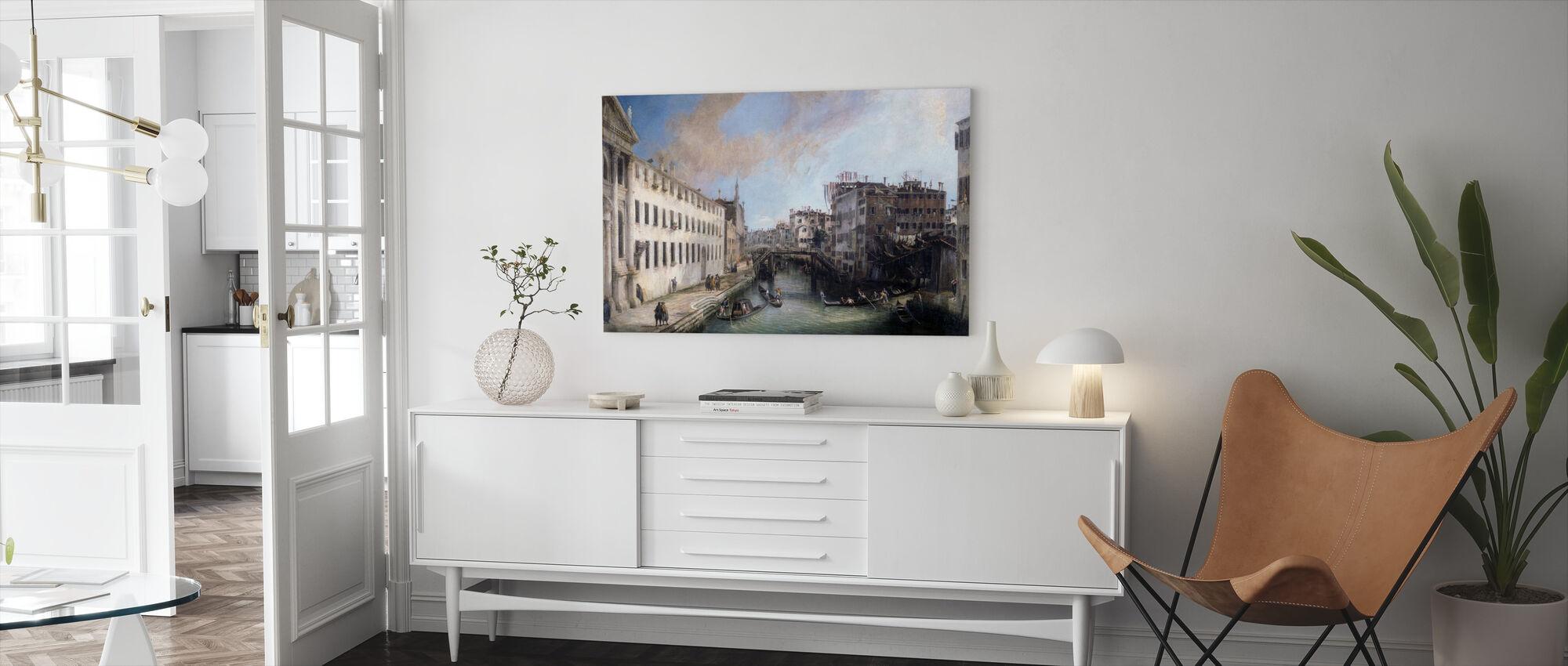 Rio dei Bendicanti - Canaletto - Canvas print - Living Room