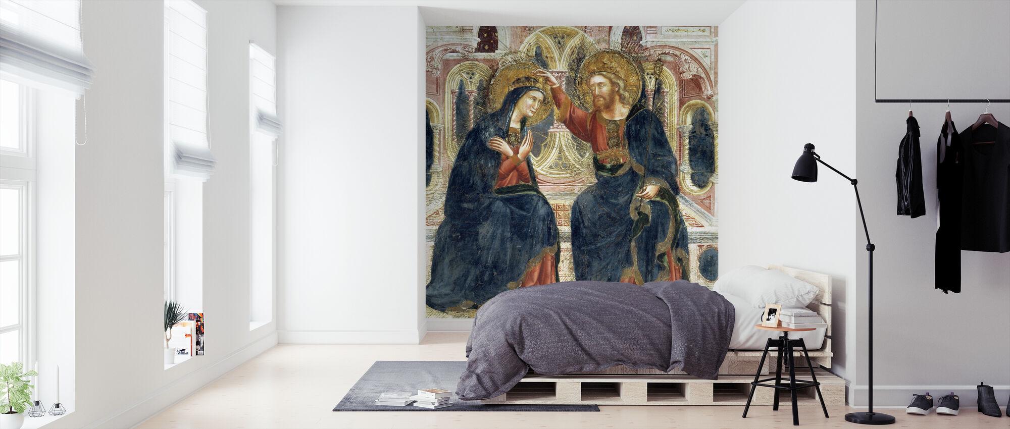 Neitsyen kruunaus - Guariento di Arpo - Tapetti - Makuuhuone