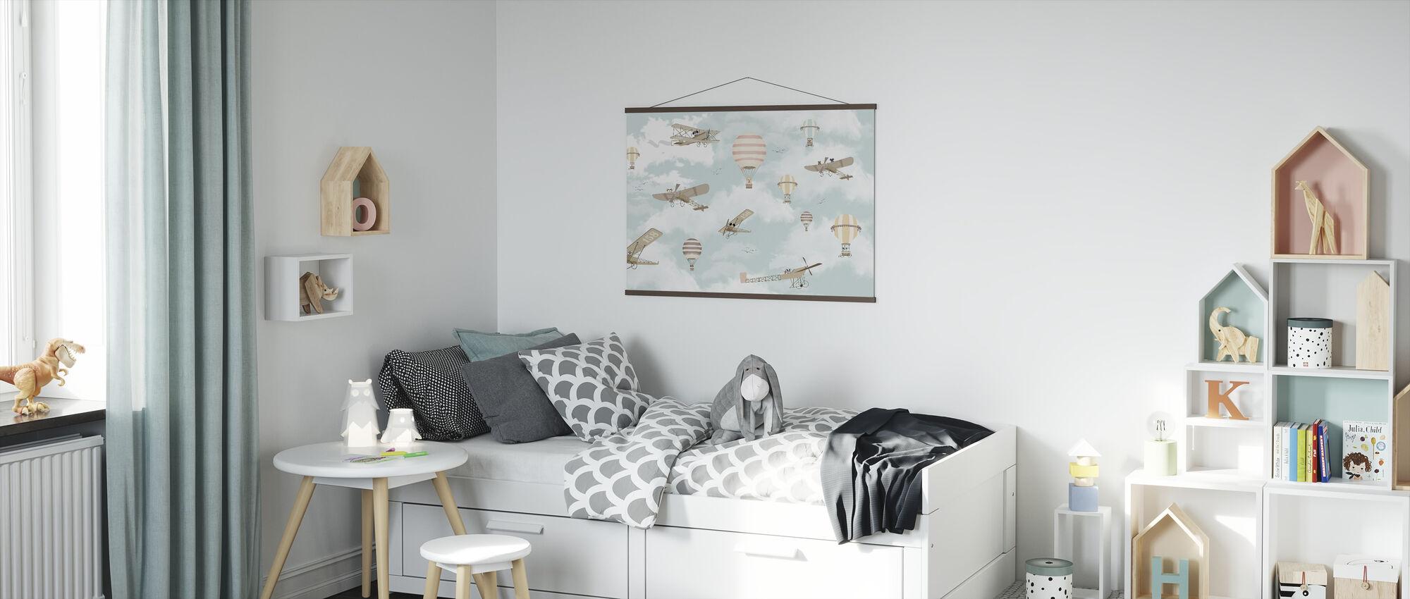 Lets fly Dog Friends - Poster - Kids Room
