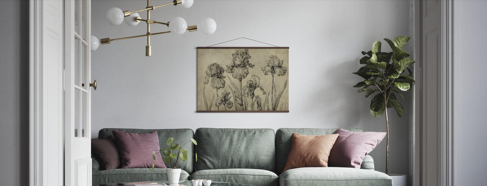 Iris - Vintage Amber - Plakat - Stue