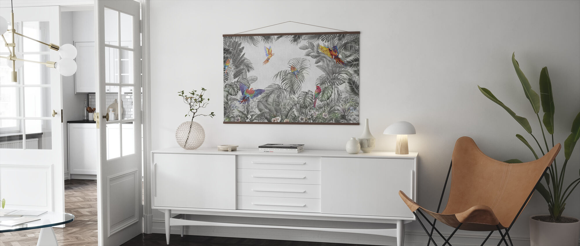 Playing Parrots - Poster - Living Room