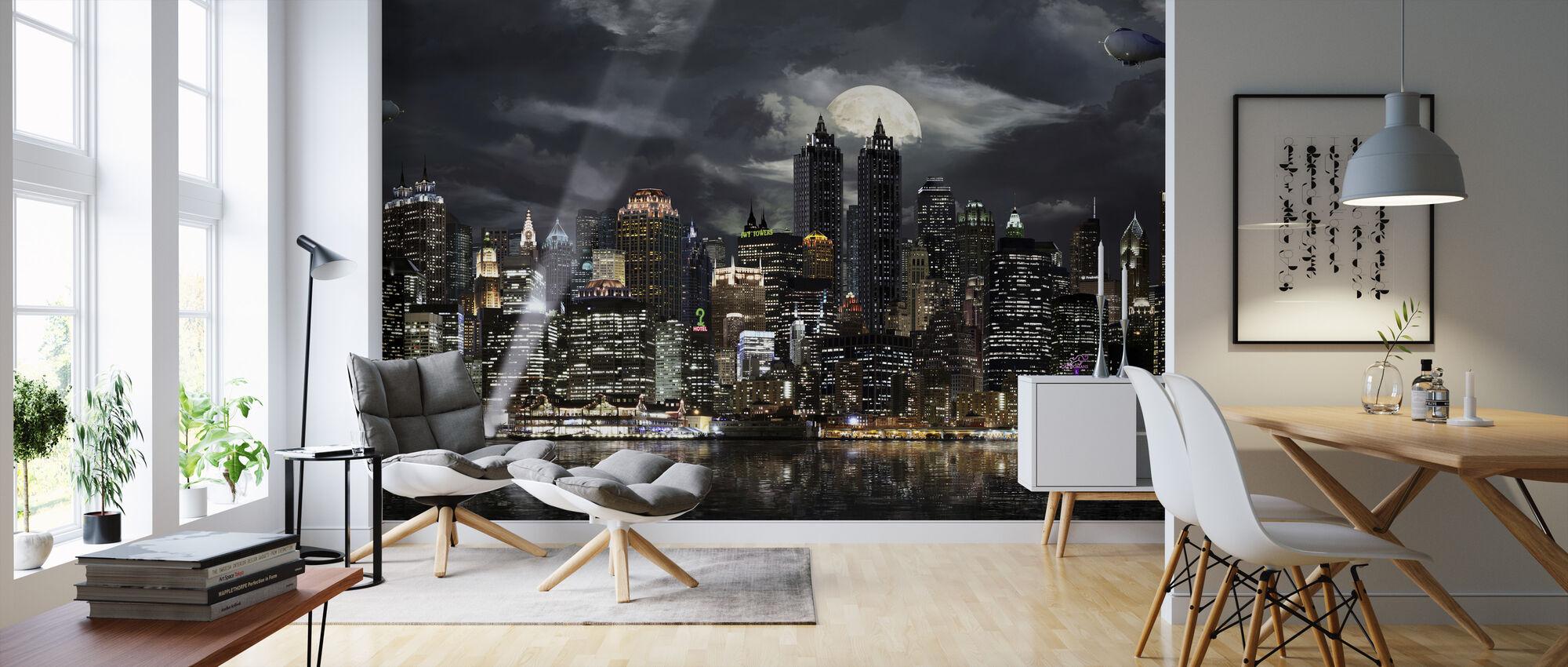 Gotham - Wallpaper - Living Room