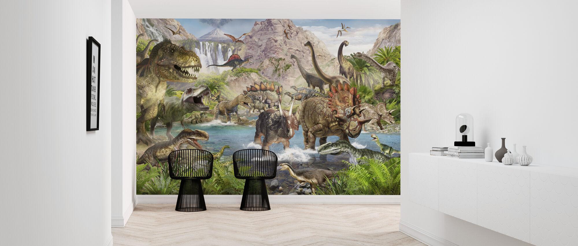 Dinosaur World - Wallpaper - Hallway