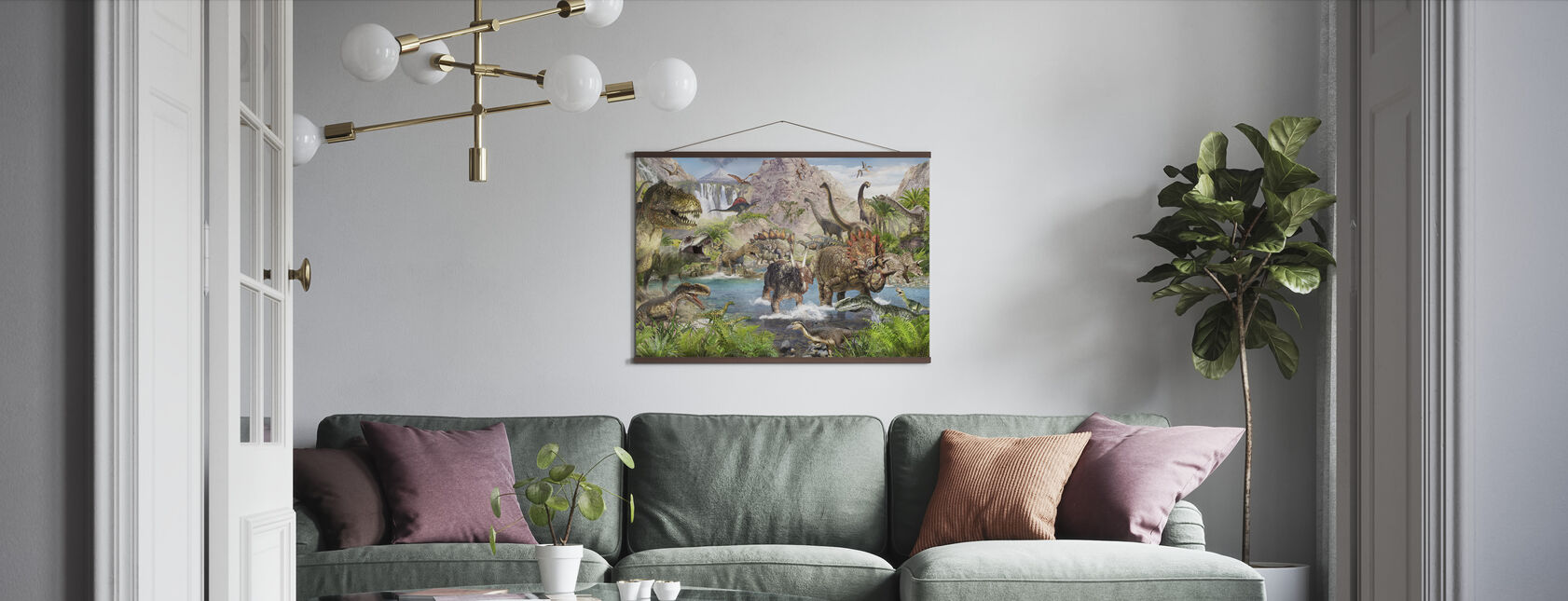 Dinosaur verden - Plakat - Stue