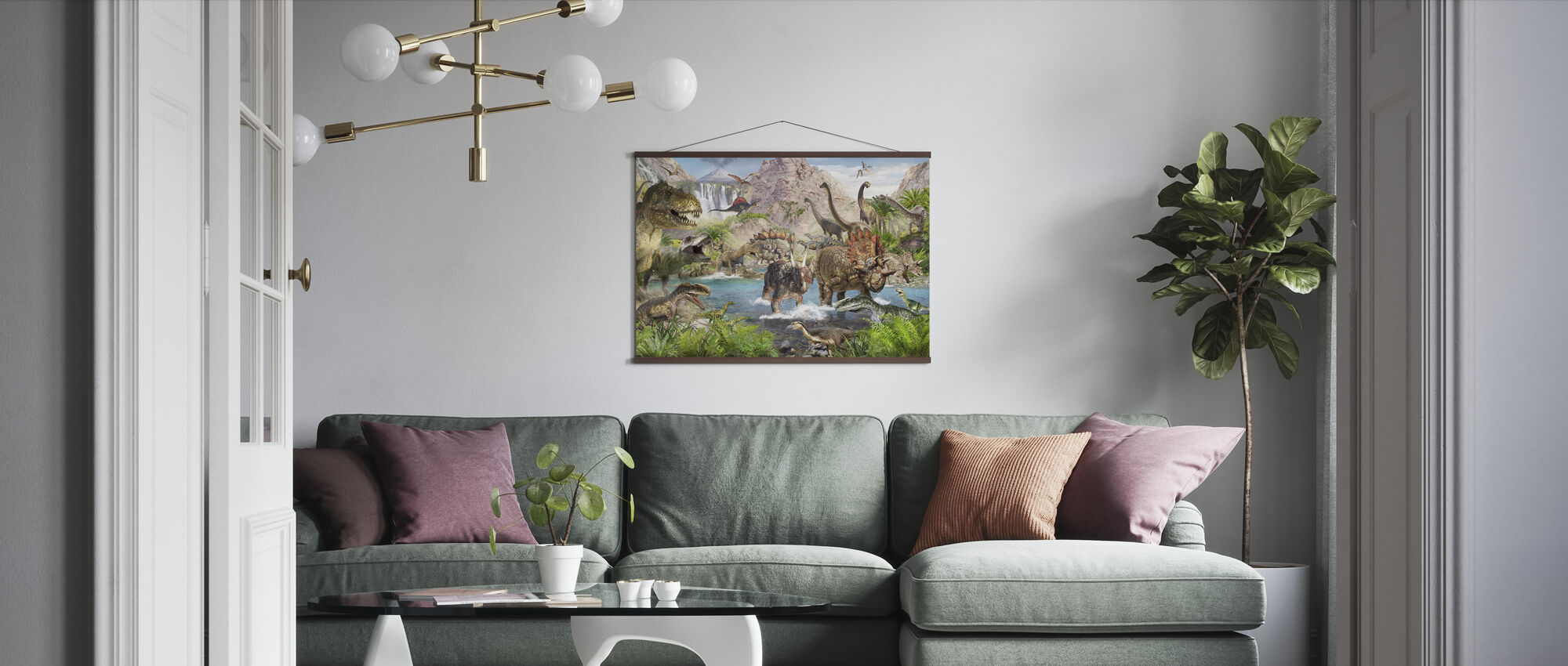Dinosaur World - Poster - Living Room
