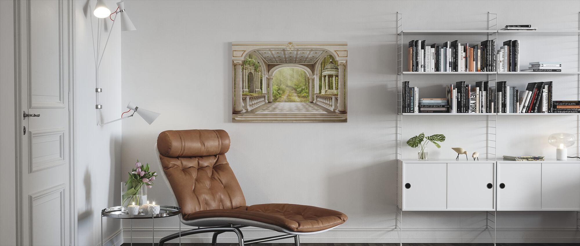 Majestetisk portal - Lerretsbilde - Stue