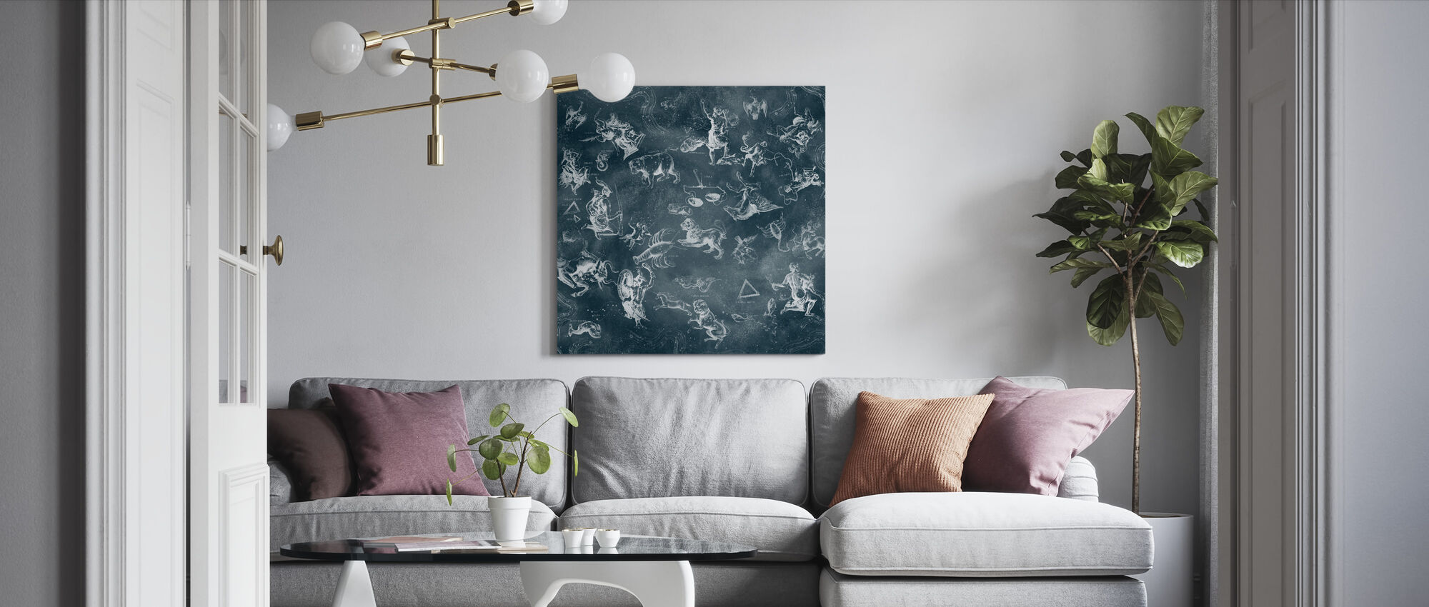 Zodiac - Canvas print - Living Room