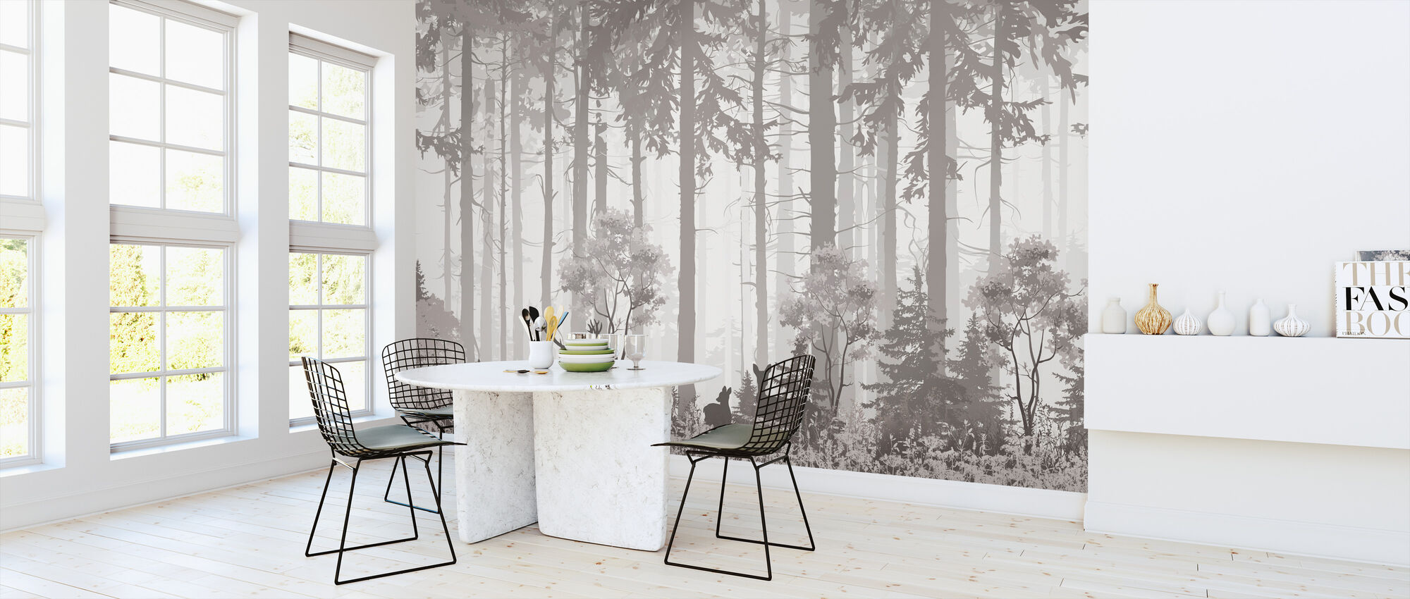 Forest Silhouettes - Wallpaper - Kitchen