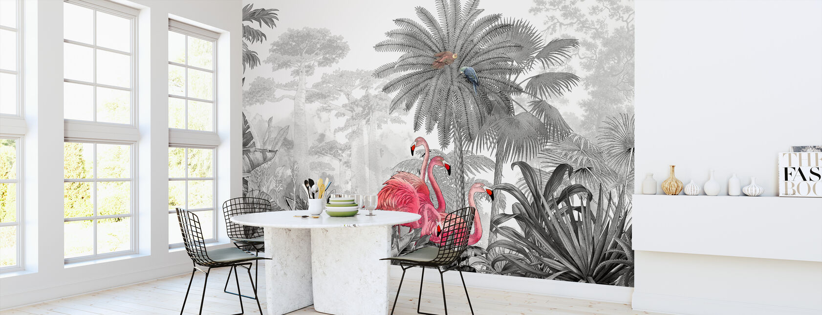 Tropical Flamingos - Wallpaper - Kitchen