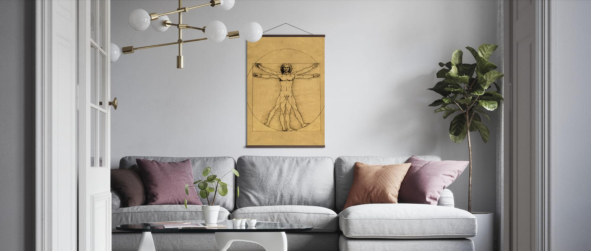 Mänsklig gestalt - Leonardo da Vinci - Poster - Vardagsrum
