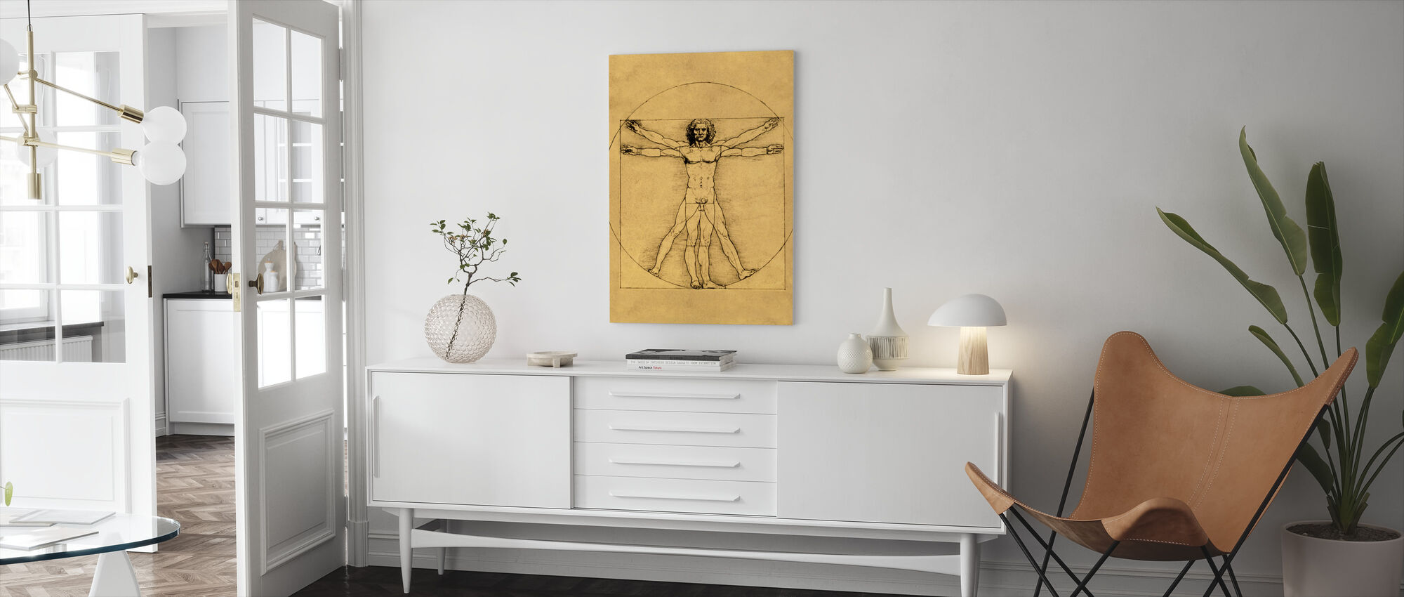 Human Figure - Leonardo da Vinci - Canvas print - Living Room