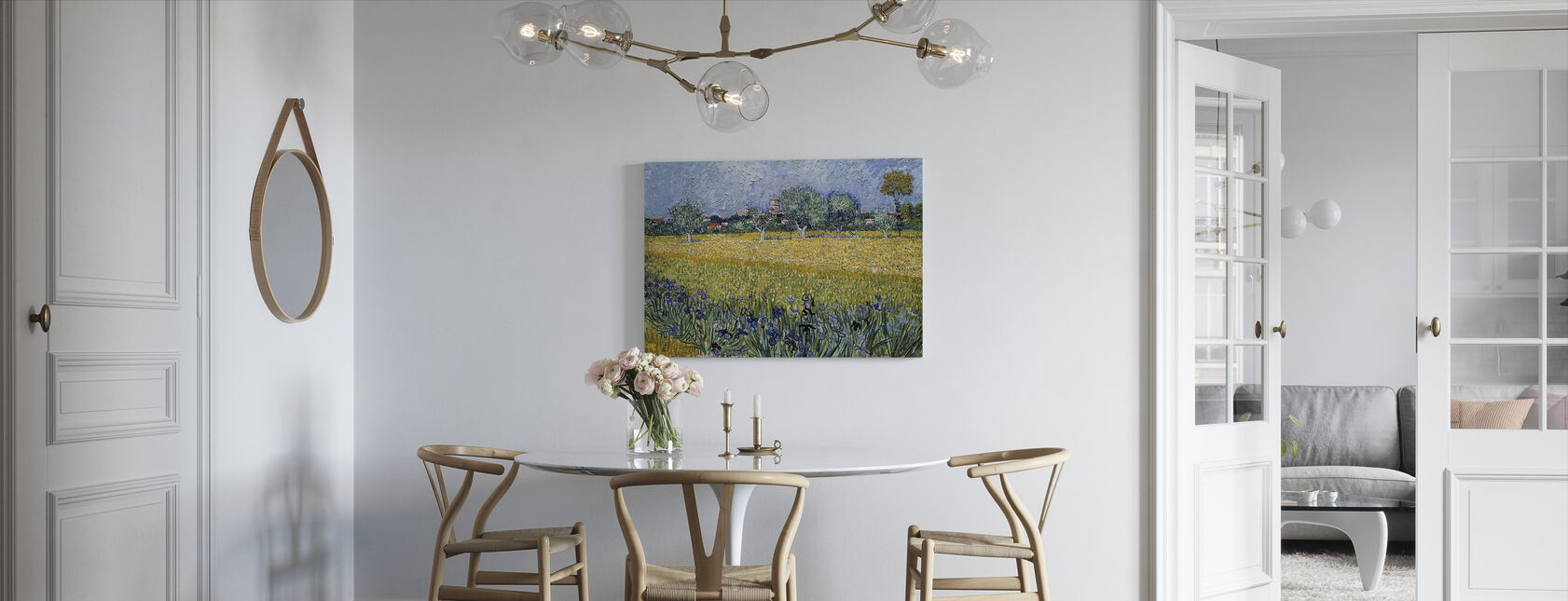 View of Arles with Irises - Vincent van Gogh - Canvas print - Kitchen