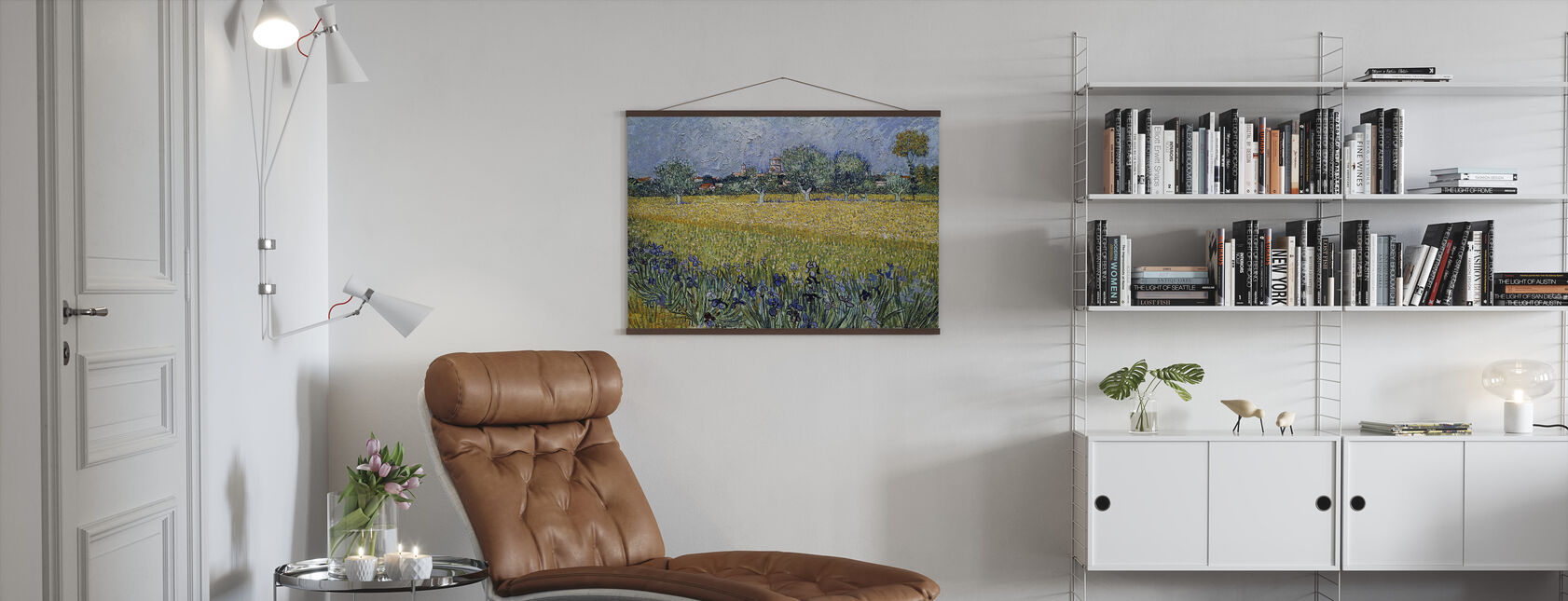 View of Arles with Irises - Vincent van Gogh - Poster - Living Room