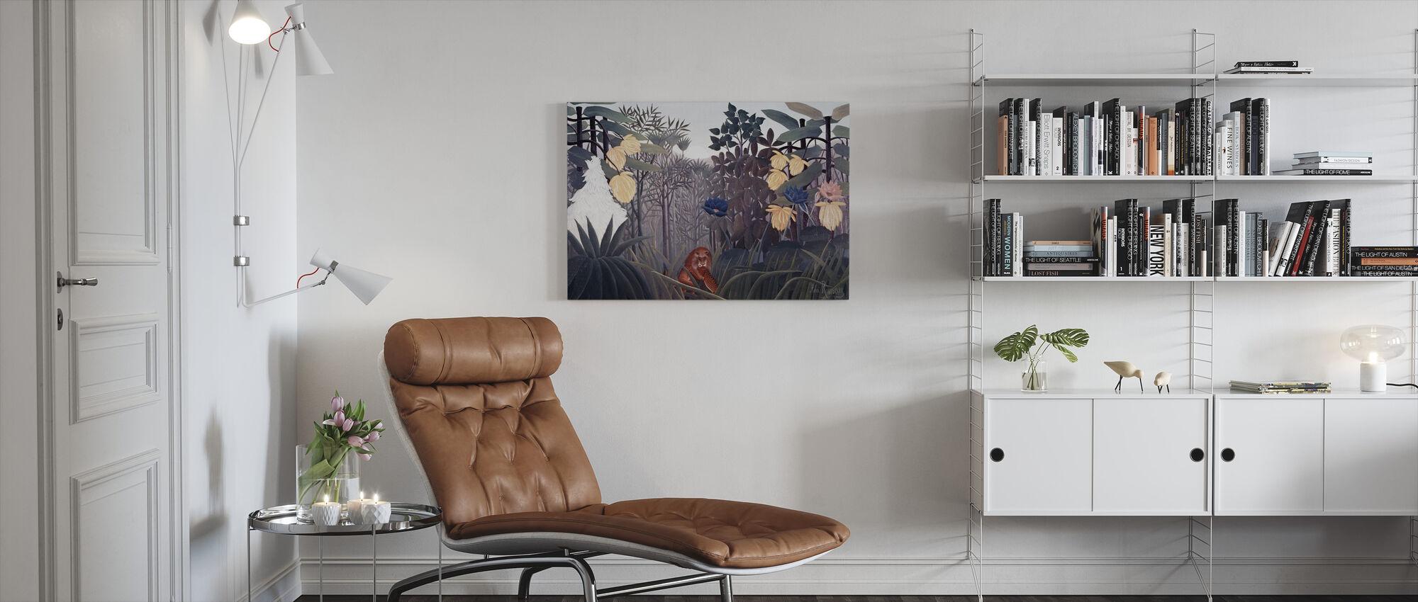 Repast of the Lion - Henri Rousseau - Canvas print - Living Room