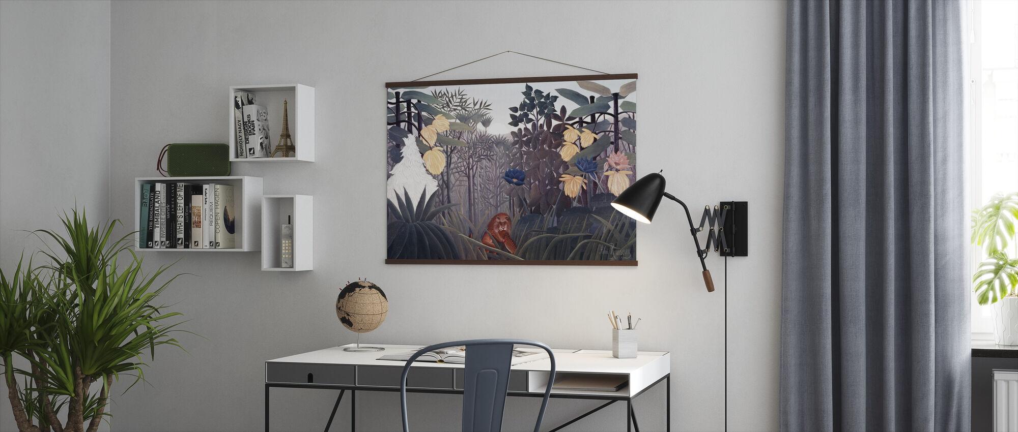 Reast av lejonet - Henri Rousseau - Poster - Kontor