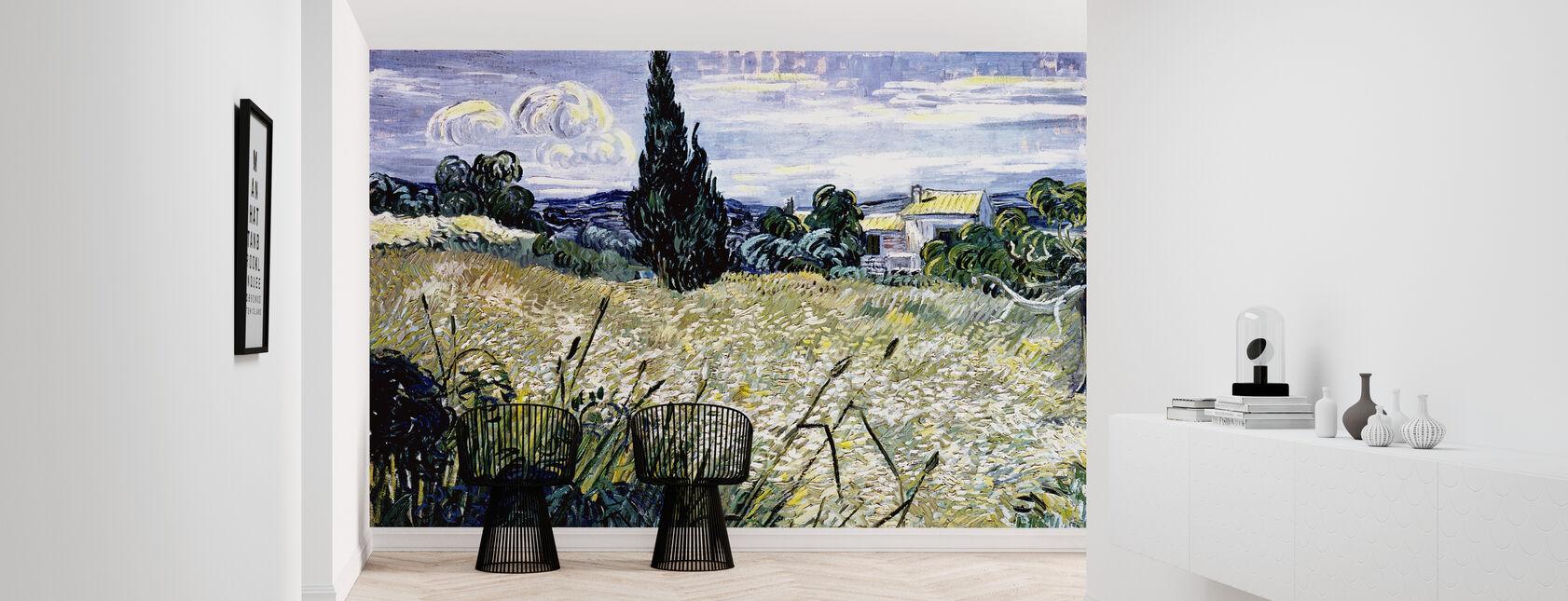 Maisema vihreällä maissilla - Vincent van Gogh - Tapetti - Aula