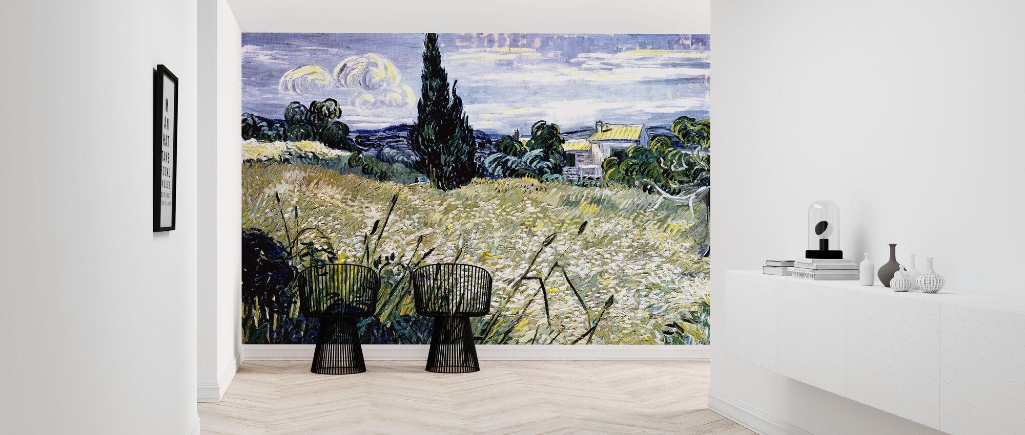 Landskab med grøn majs - Vincent van Gogh - Tapet - Entré