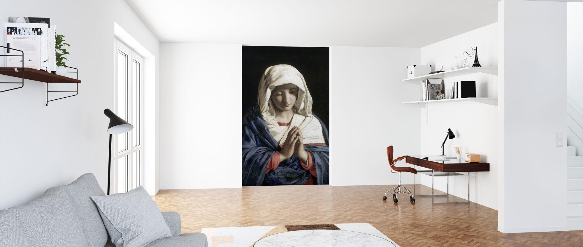 Madonna in Prayer - Giovanni Battista - Wallpaper - Office