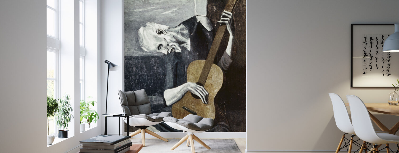 Old Guitarist - Pablo Picasso - Wallpaper - Living Room