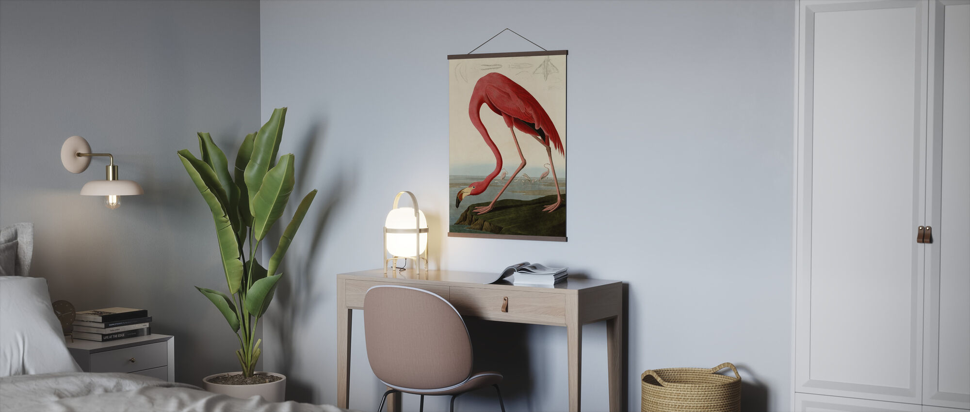 Amerikaanse Flamingo - John James Audubon - Poster - Kantoor