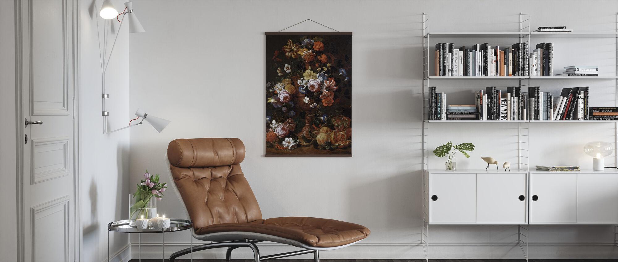 Urn van Bloemen - Nicolas van Veerendael - Poster - Woonkamer