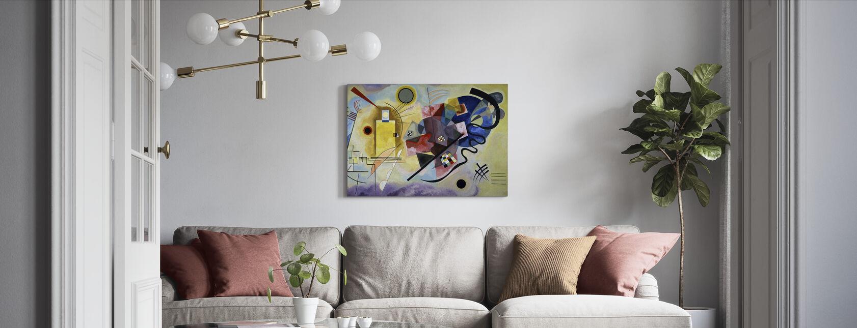 Gul Rød og Blå - Vassily Kandinsky - Billede på lærred - Stue