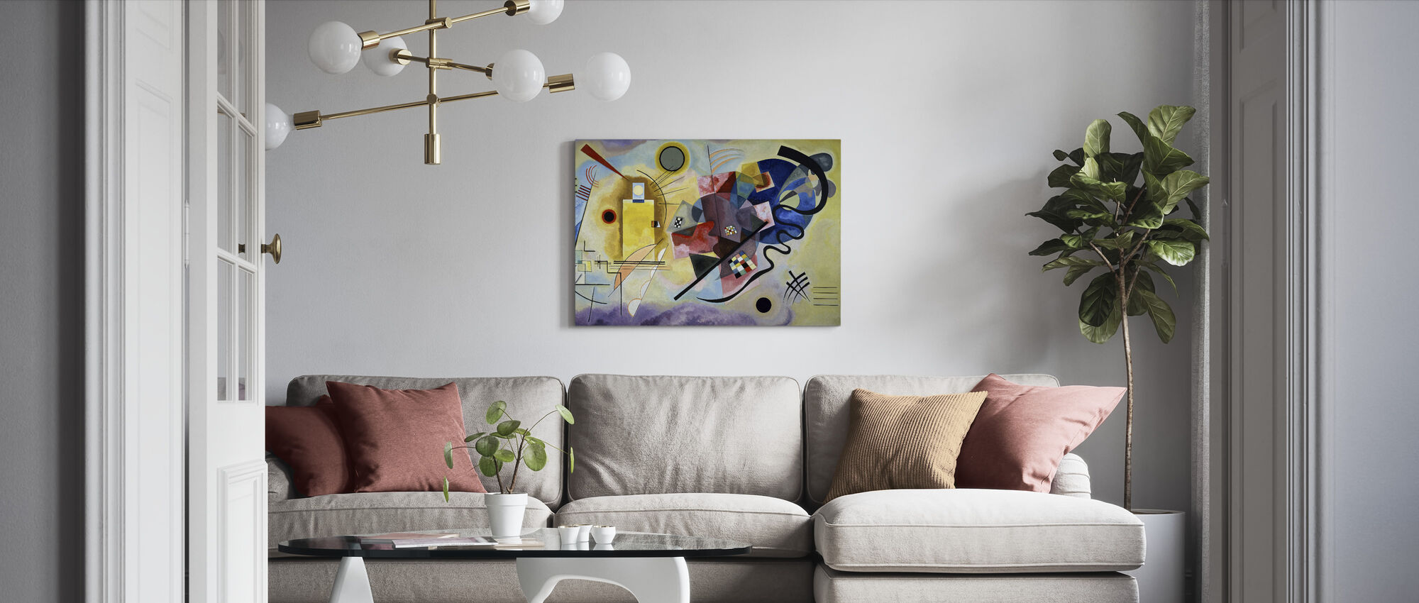 Yellow Red and Blue - Vassily Kandinsky - Canvas print - Living Room