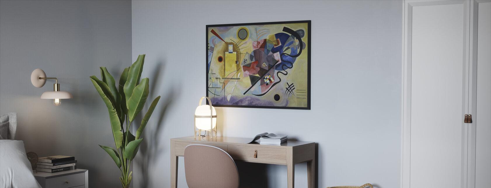 Gul Rød Og Blå - Vasily Kandinsky - Innrammet bilde - Soverom