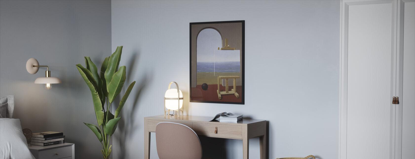 Human Condition - Rene Magritte - Framed print - Bedroom