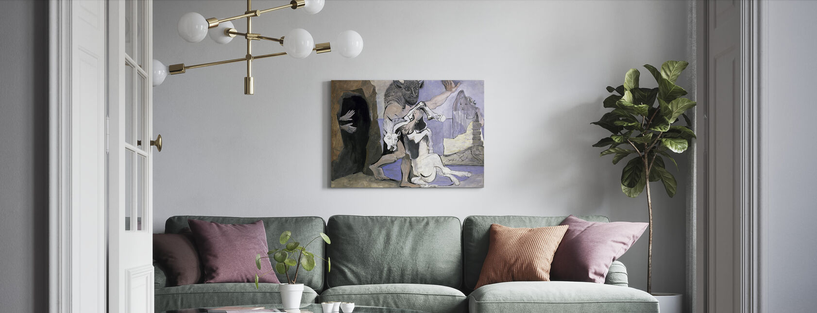 Minotaur and Dead Mare - Pablo Picasso - Canvas print - Living Room