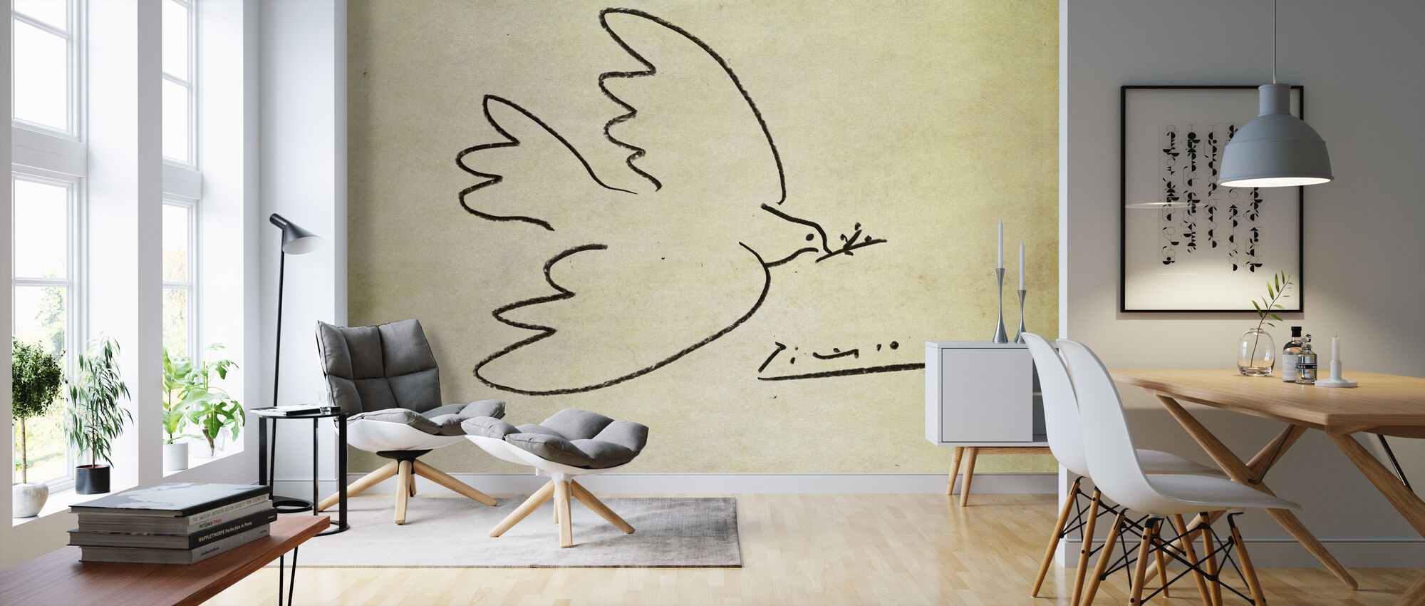 Where - Pablo Picasso - Wallpaper - Living Room