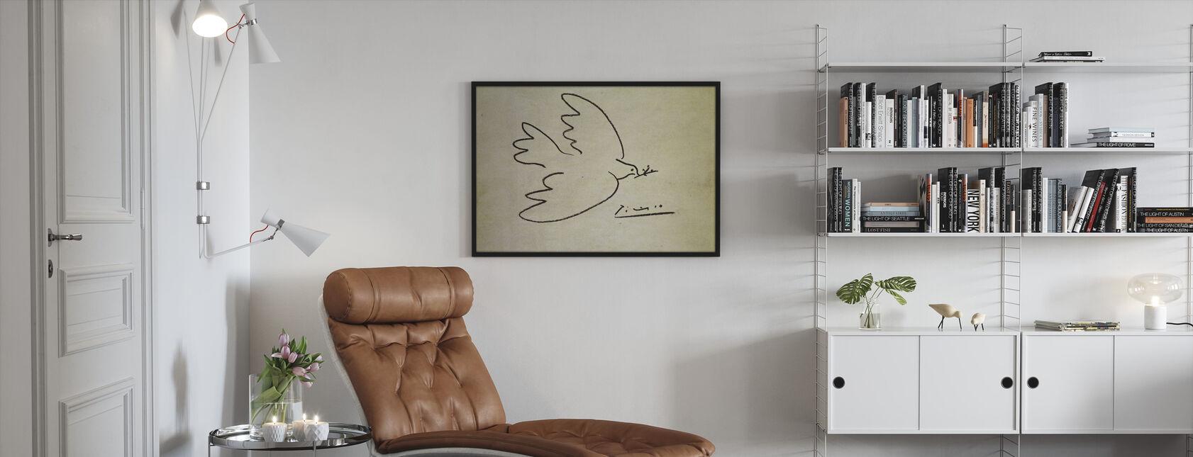 Wo - Pablo Picasso - Gerahmtes bild - Wohnzimmer